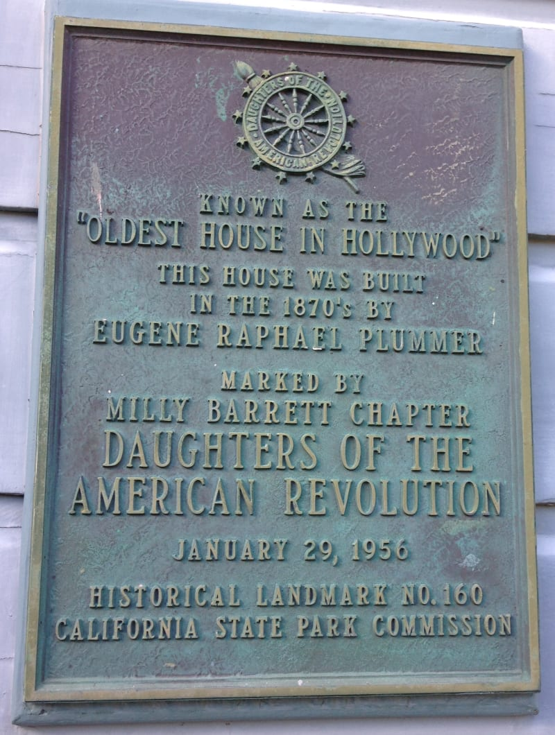NO. 160 PLUMMER HOUSE- Private Plaque