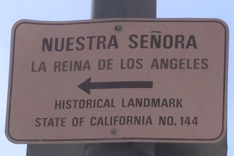 NO. 144 NUESTRA SEÑORA LA REINA DE LOS ANGELES -  Arrow points in wrong direction