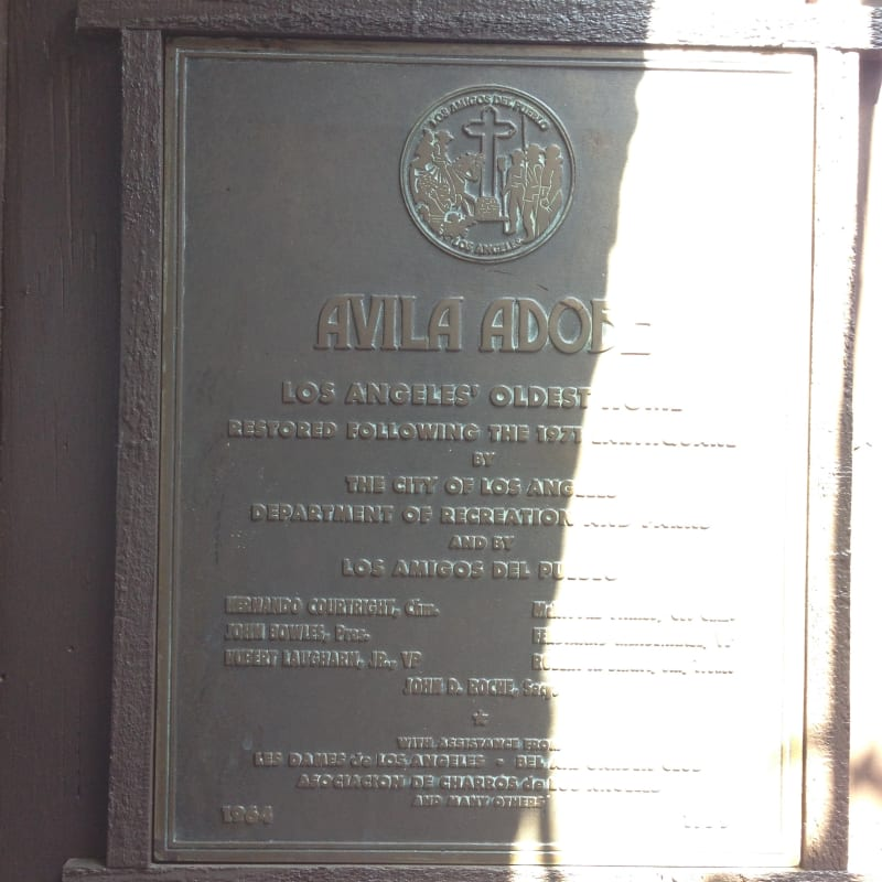 NO. 145 AVILA ADOBE - Private Plaque