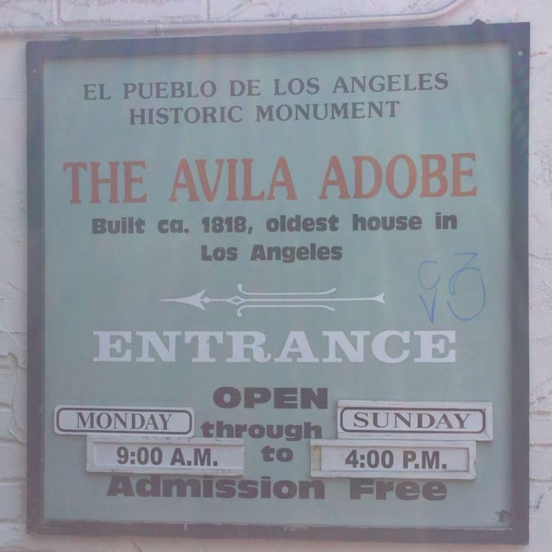 NO. 145 AVILA ADOBE - Hours