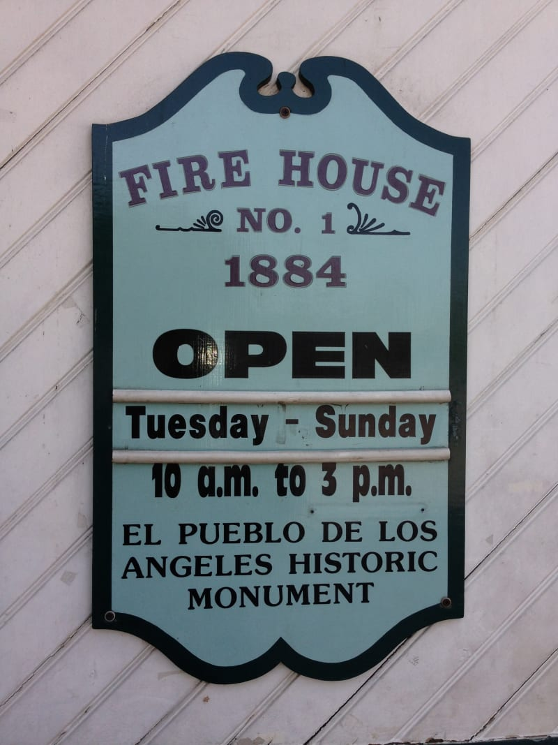 NO. 730 OLD PLAZA FIREHOUSE - Hours
