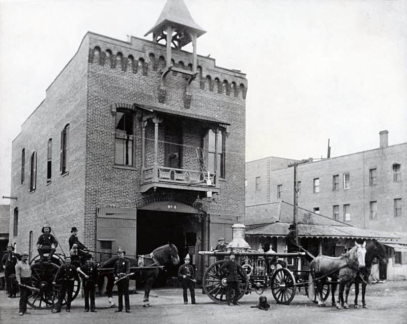 NO. 730 OLD PLAZA FIREHOUSE - Old photo