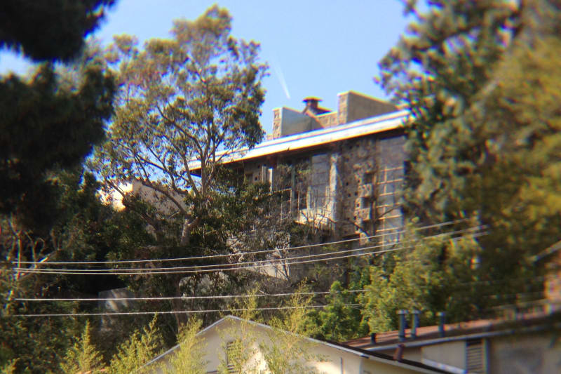 NO. 1011 FRANK LLOYD WRIGHT TEXTILE BLOCK HOUSE (THEMATIC), FREEMAN HOUSE - View from Highland
