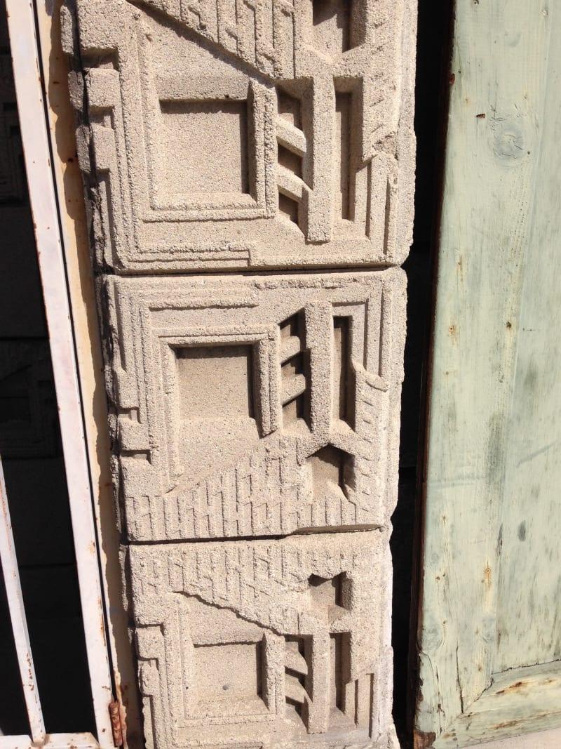NO. 1011 FRANK LLOYD WRIGHT TEXTILE BLOCK HOUSE (THEMATIC), FREEMAN HOUSE - Block Pattern