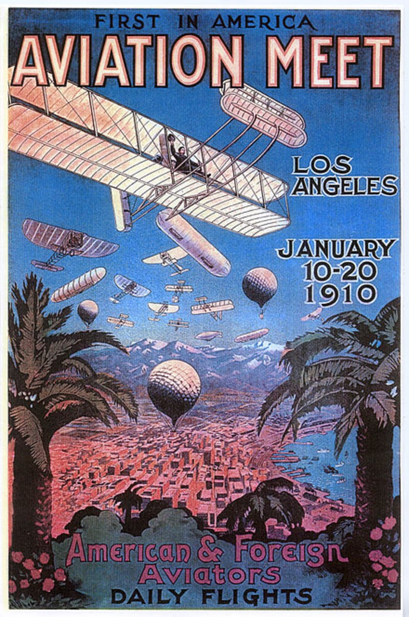 1910 Los Angeles International Air Meet at Dominguez Field - 1910 Poster