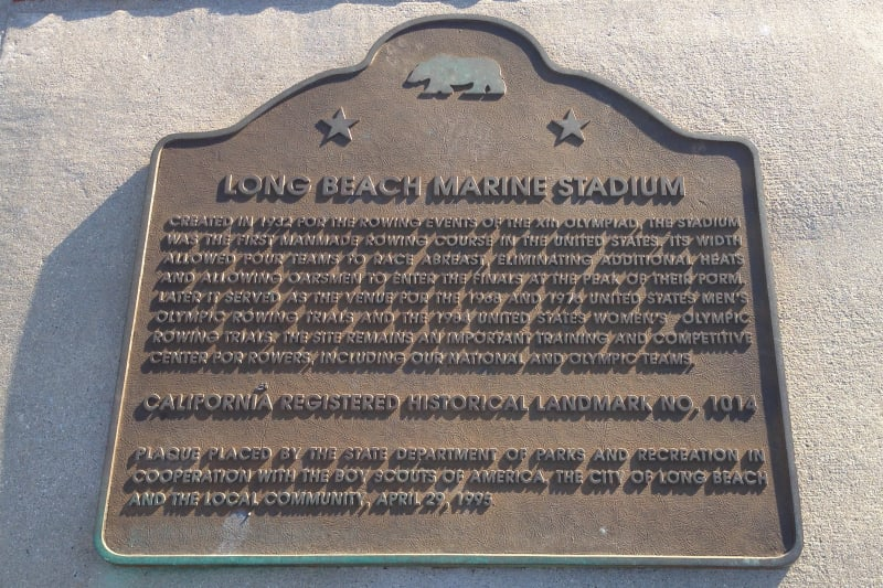 NO. 1014 LONG BEACH MARINE STADIUM - State Plaque