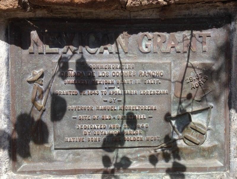 NO. 425 LA CAÑADA DE LOS COCHES RANCHO - Private Plaque