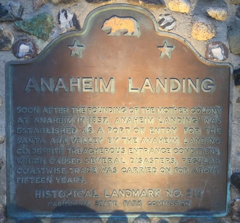 NO. 219 ANAHEIM LANDING - State Plaque
