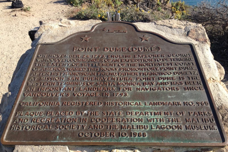 CHL No. 965 - Point Dume - State Plaque