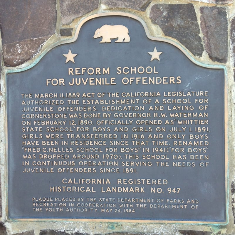 NO. 947 REFORM SCHOOL FOR JUVENILE OFFENDERS (FRED C. NELLES SCHOOL) - State Plaque
