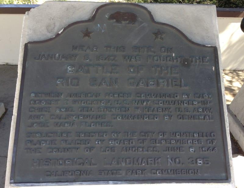 NO. 385 RIO SAN GABRIEL BATTLEFIELD - State PLaque
