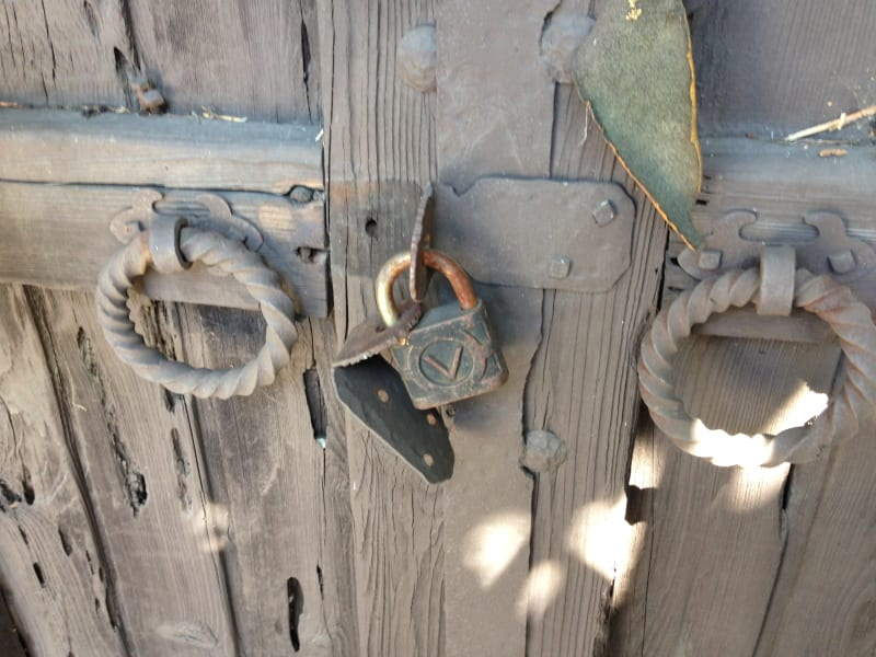 NO. 451 THE ORTEGA-VIGARE ADOBE - Front Gate Locks