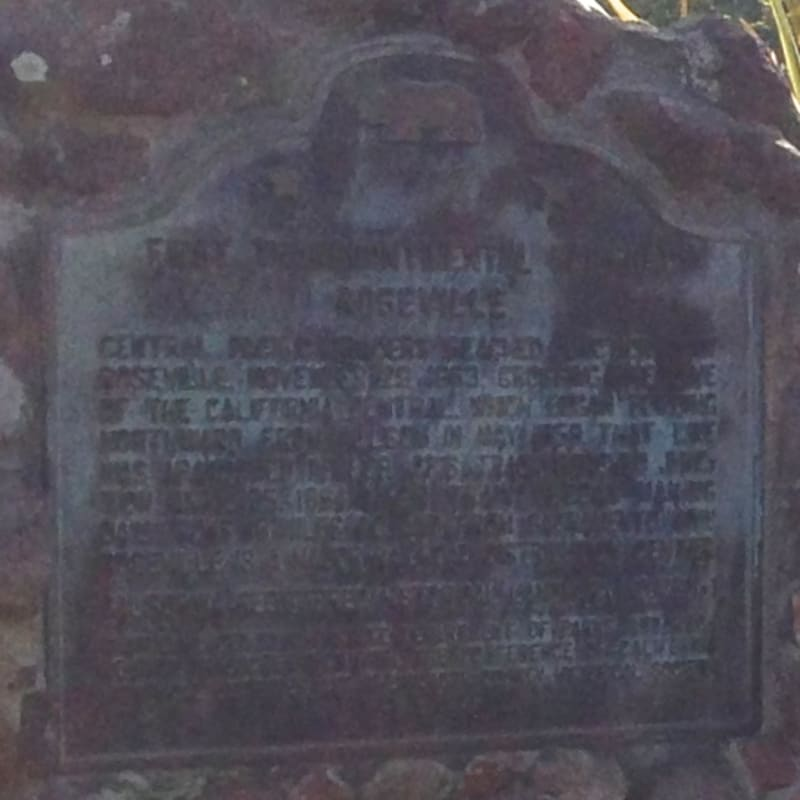 NO. 780-1 FIRST TRANSCONTINENTAL RAILROAD-ROSEVILLE - State Plaque