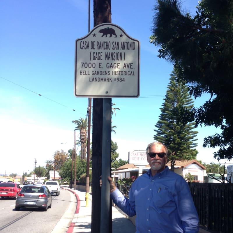NO. 984 CASA DE RANCHO SAN ANTONIO (HENRY GAGE MANSION)  -  Road Sign