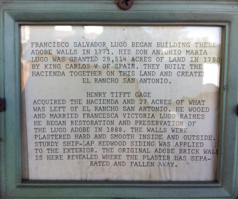 NO. 984 CASA DE RANCHO SAN ANTONIO (HENRY GAGE MANSION) -