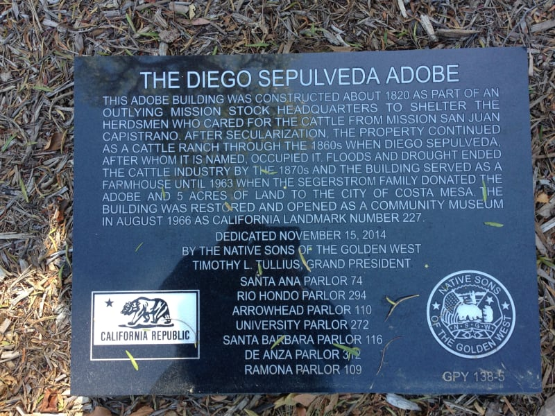 NO. 227 DIEGO SEPÚLVEDA ADOBE - Private Plaque