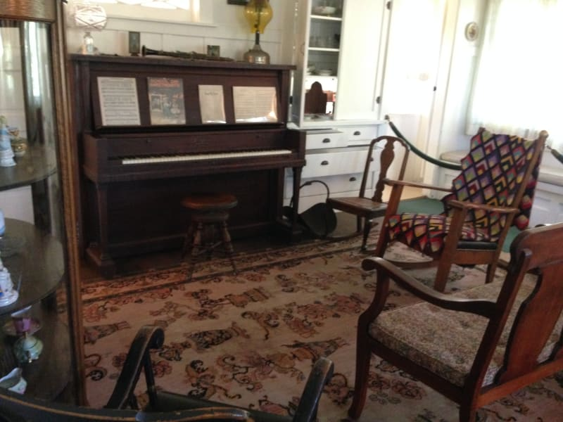 NO. 1015 RICHARD NIXON BIRTHPLACE - Parlor. Nixon Played 5 instruments.