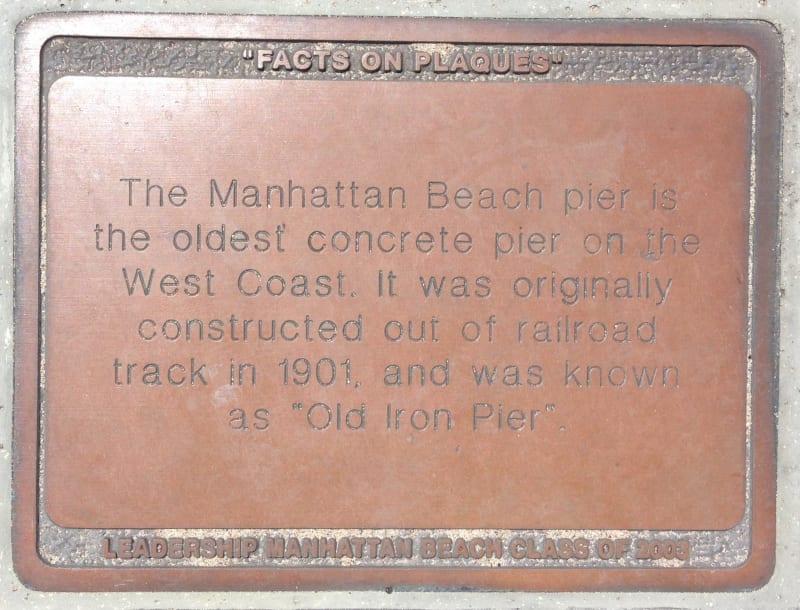 CHL #1018 MANHATTAN BEACH STATE PIER - Private Plaque