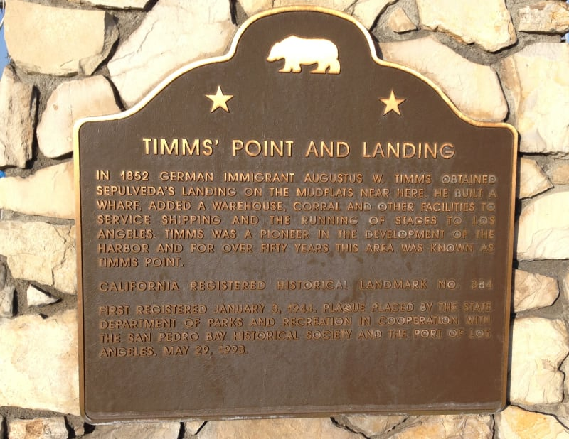 NO. 384 TIMMS' POINT AND LANDING - State Plaque