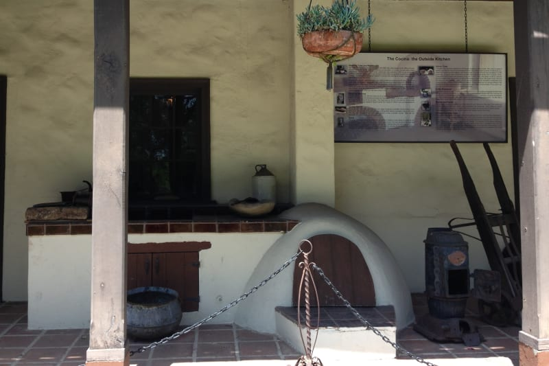 NO. 152 DOMÍNGUEZ RANCHHOUSE - Outside Kitchen