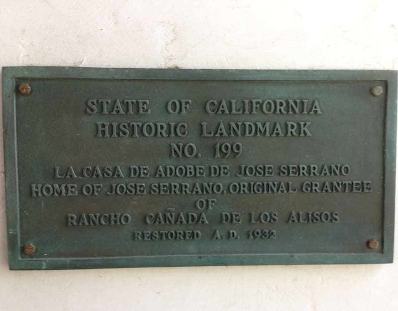 NO. 199 THE SERRANO ADOBE -  Private Plaque