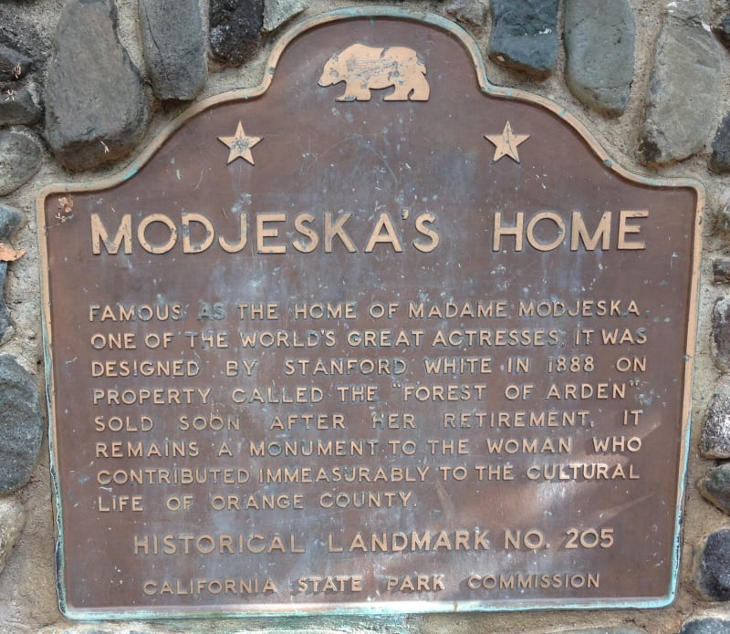 NO. 205 MODJESKA'S HOME - State Plaque