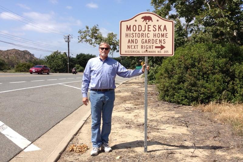 NO. 205 MODJESKA'S HOME - Road Sign