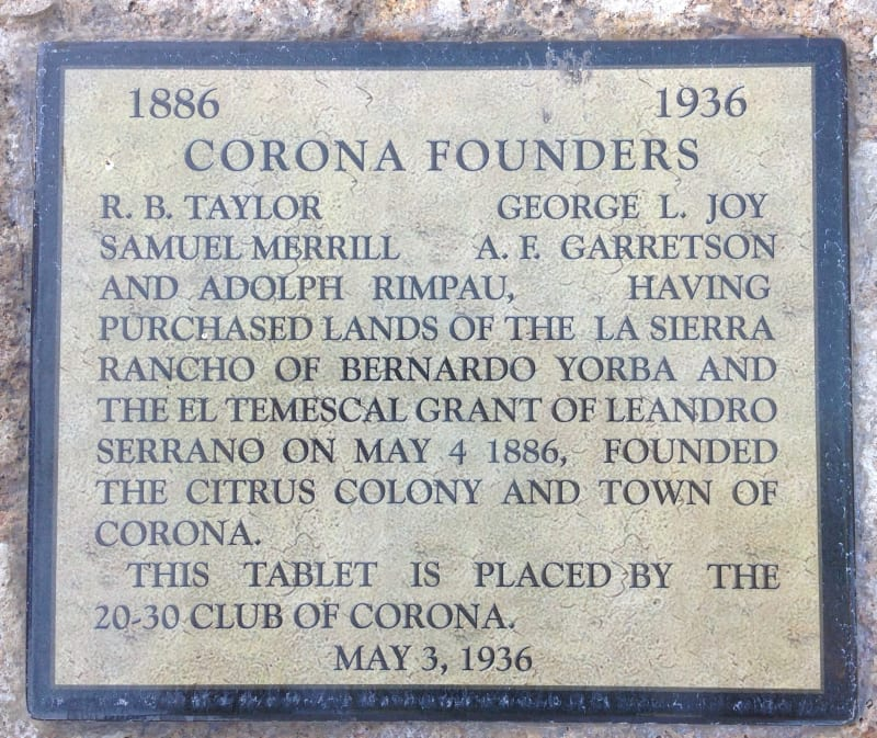 NO. 738 CORONA FOUNDERS MONUMENT - Private Plaque
