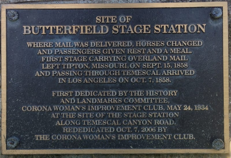 NO. 188 BUTTERFIELD STAGE STATION - Private Plaque