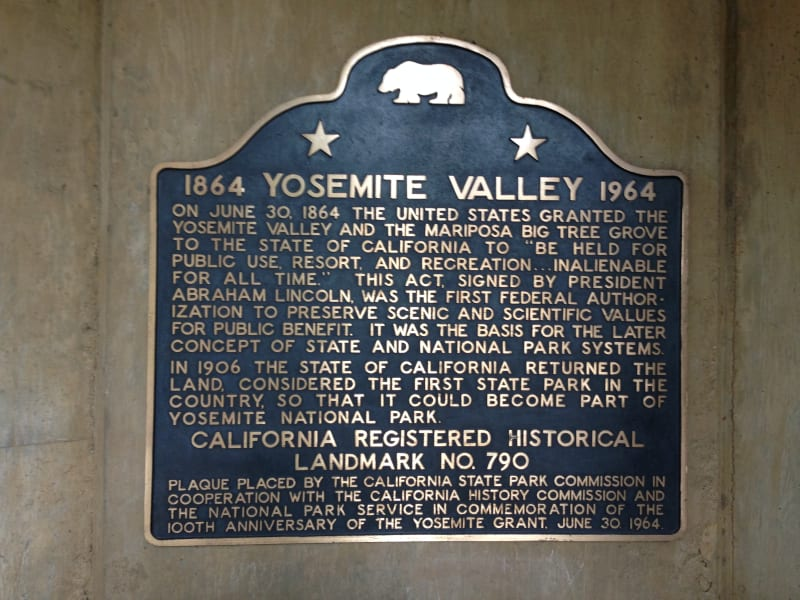 NO. 790 YOSEMITE VALLEY - State Plaque