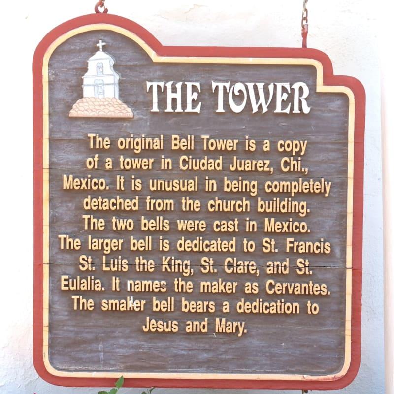 NO. 243 ASISTENCIA SAN ANTONIO DE PALA - The Tower Sign