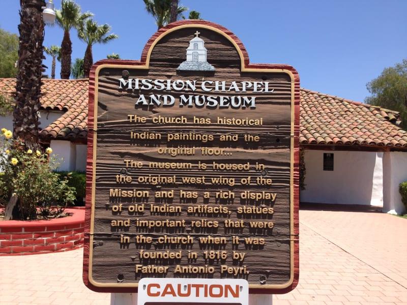 NO. 243 ASISTENCIA SAN ANTONIO DE PALA - Mission Sign