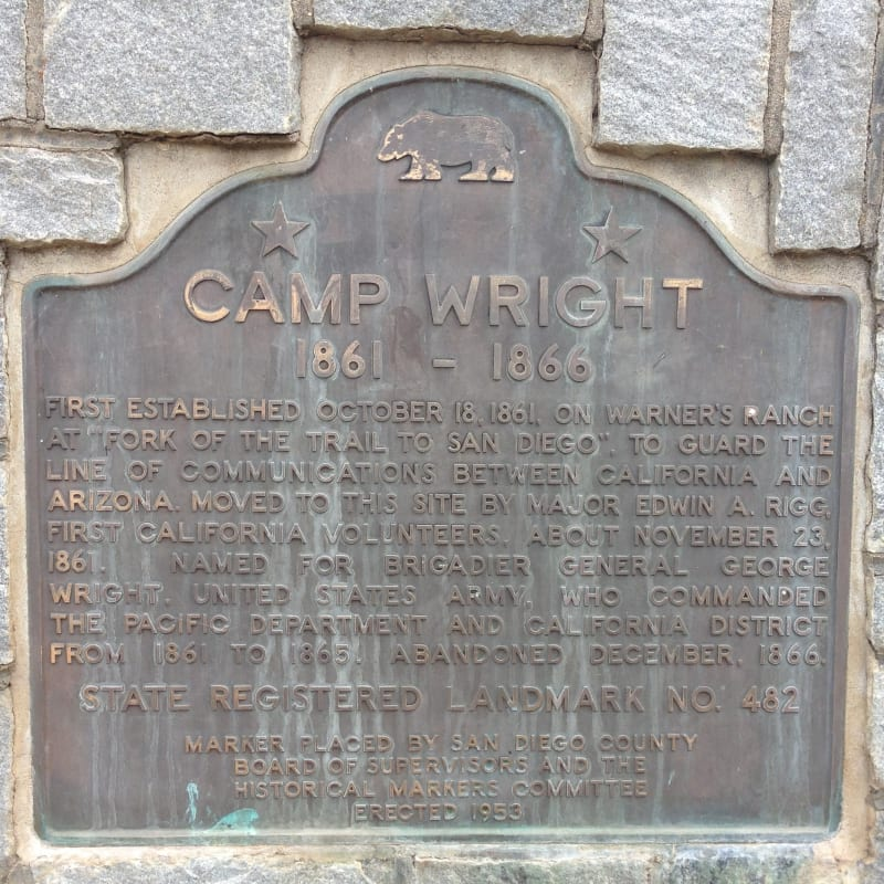 NO. 482 CAMP WRIGHT - State Plaque