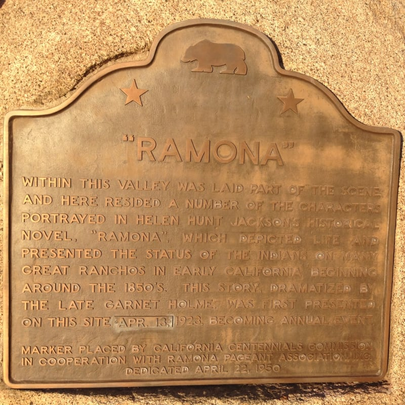NO. 1009 RAMONA BOWL - State Plaque