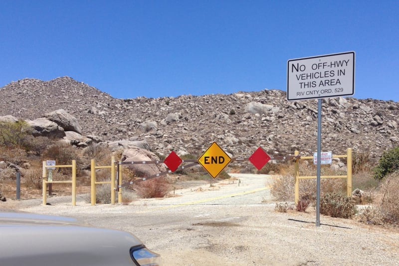 NO. 557 HEMET MAZE STONE - The road is closed. It is just a 0.3 mile walk.