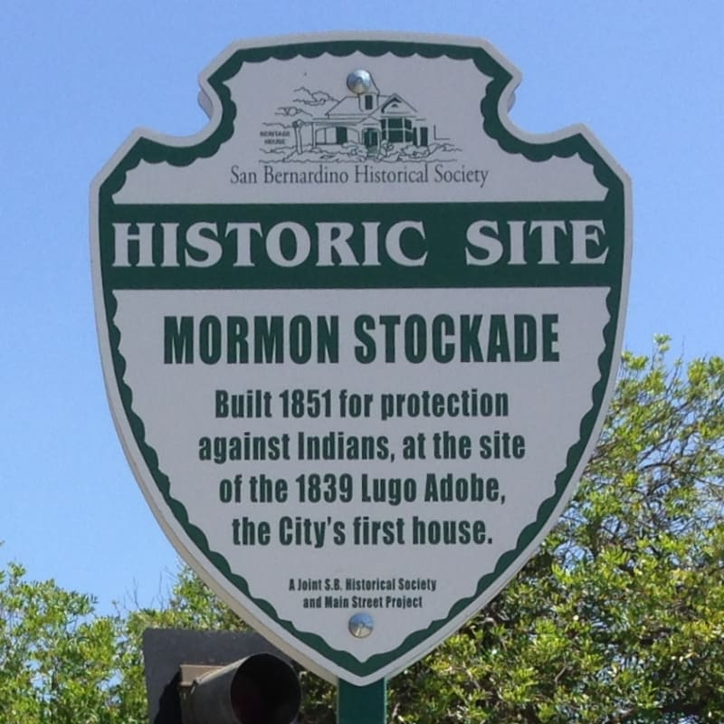 NO. 44 SITE OF MORMON STOCKADE - Street Sign