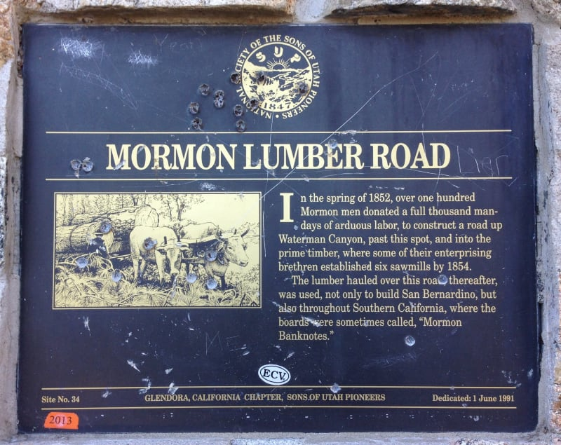 NO. 96 MORMON ROAD - Private Plaque