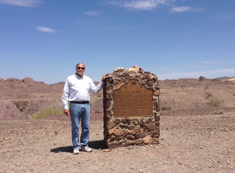 NO. 193 PICACHO MINES - Marker on the Road