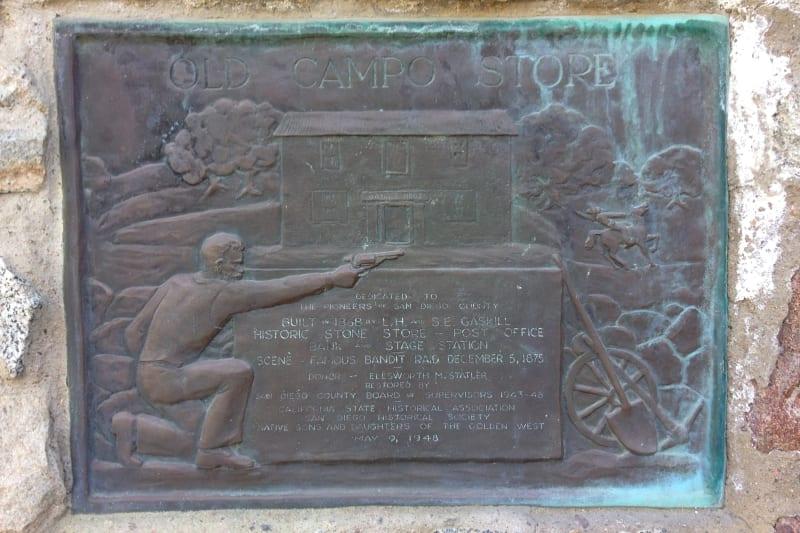 NO. 411 CAMPO STONE STORE - Private Plaque