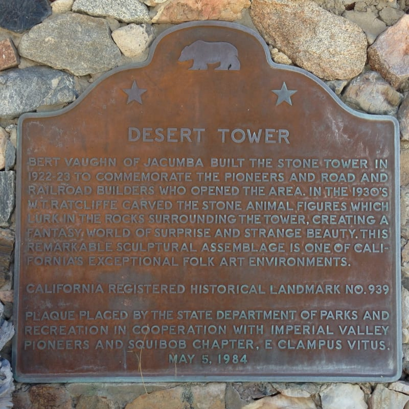 #939.9 DESERT VIEW TOWER - State Plaque