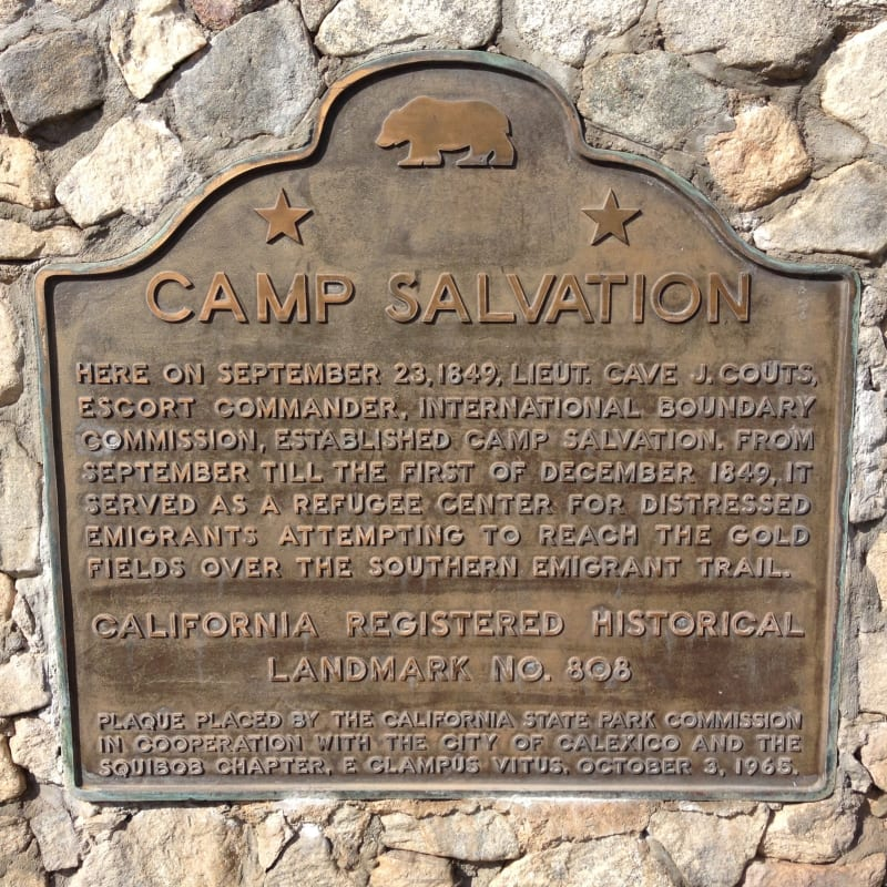 NO. 808 CAMP SALVATION - State Plaque