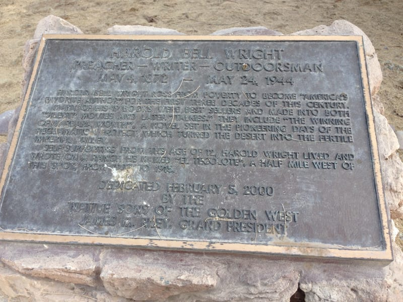 NO. 1034 TECOLOTE RANCHO SITE - Private Plaque