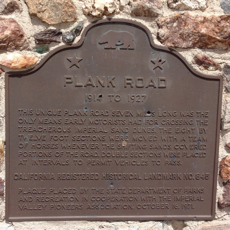 NO. 845 PLANK ROAD - State Plaque