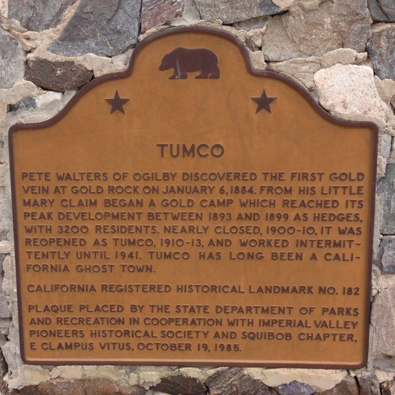 NO. 182 TUMCO MINES - State Park