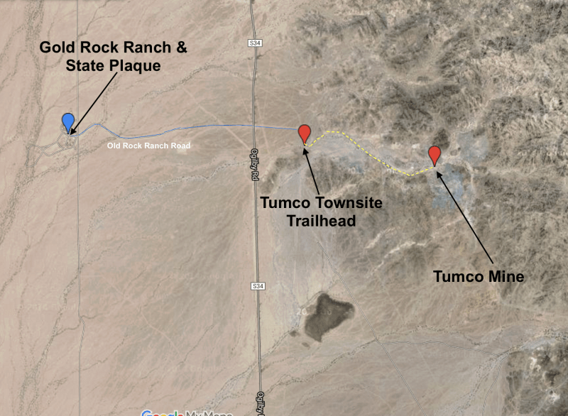 Map of plaque and townsite