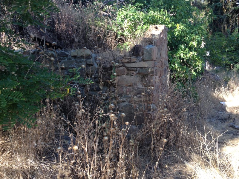 NO. 41 BIG BAR - The Mokelumne River. Amador side. Building Remnants