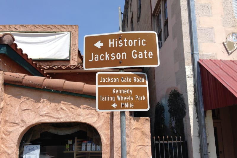 NO. 118 JACKSON GATE - Sign in Front of: 210 N Main St, Jackson, CA 95642