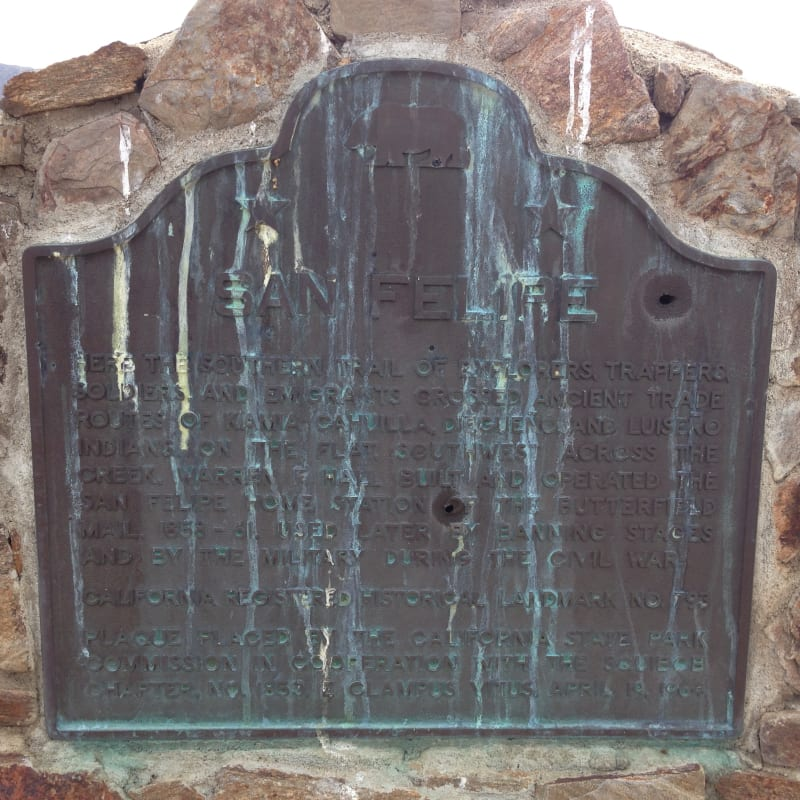 NO. 793 SAN FELIPE VALLEY AND STAGE STATION - State Plaque