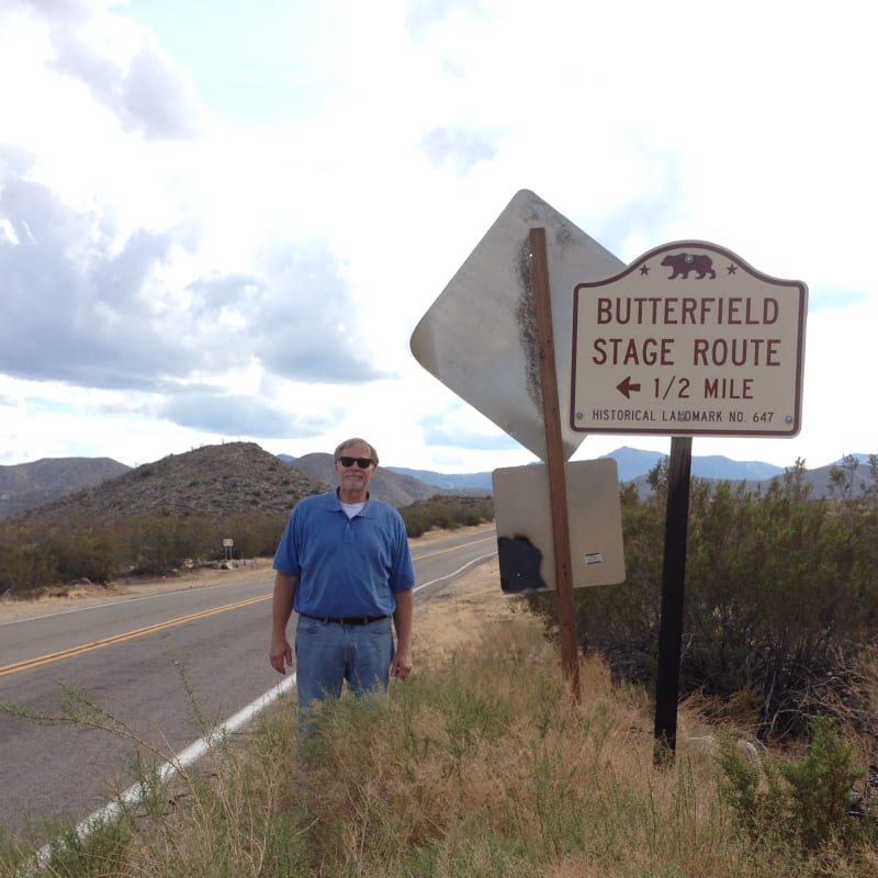 NO. 647 BUTTERFIELD OVERLAND MAIL ROUTE -  State Street Sign