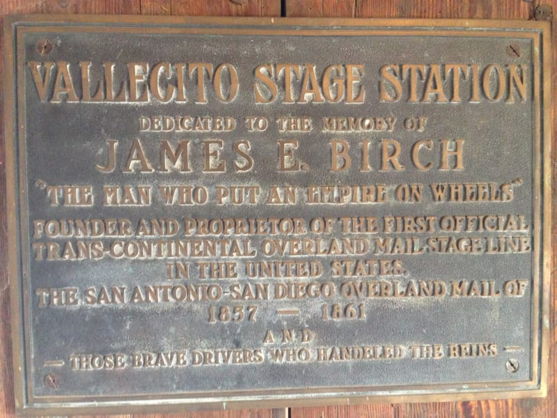 NO. 304 VALLECITO STAGE DEPOT (STATION) - Private Plaque